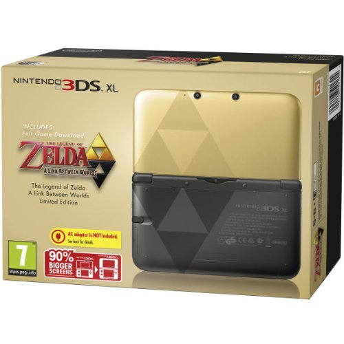 nintendo handheld console 3ds xl black gold limited. Black Bedroom Furniture Sets. Home Design Ideas