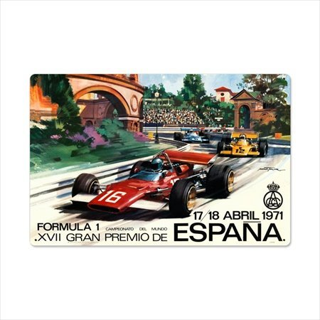 Past Time Signs Jg096 Spanish Formula One Automotive Metal Sign front-96126