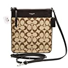 COACH Legacy Signature and Leather North / South Swingpack in Silver / Khaki / Mahogany 50808