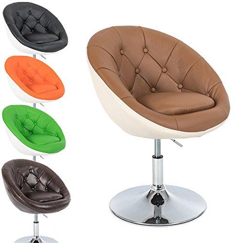 Lounge-Sessel-Gottfried-2-farbig-Cocktailsessel-Barstuhl-Retro-Drehstuhl-Chesterfield-Look-hhenverstellbar-in-vielen-Farben-Gre-M-Beige-Braun-Karamell