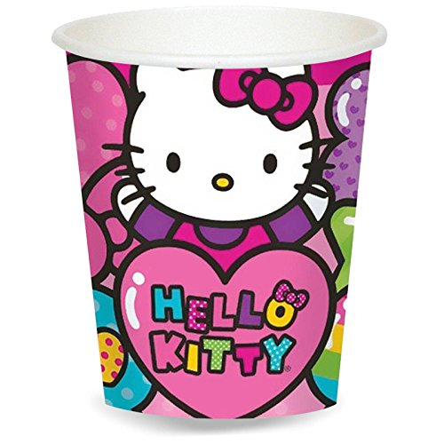 Hello Kitty Rainbow 9 oz. Paper Cups (8) - 1