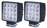 Tiauto「2個セット」 48W LED ワークライト作業灯 LED 12V 24V 汎用 防水IP67 自動車 トラック 重機 船舶 各種作業車対応