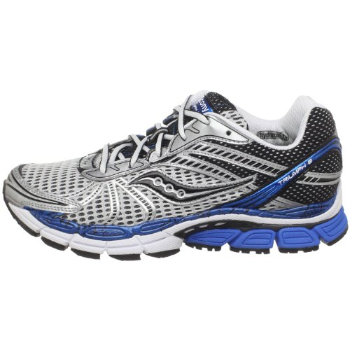 Saucony Men's ProGrid Triumph 8 Running Shoe,White/Royal,9.5 M US