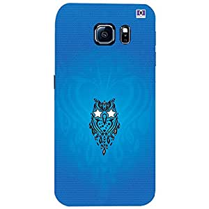 Blue Logo - Mobile Back Case Cover For Samsung Galaxy S6 Edge Plus