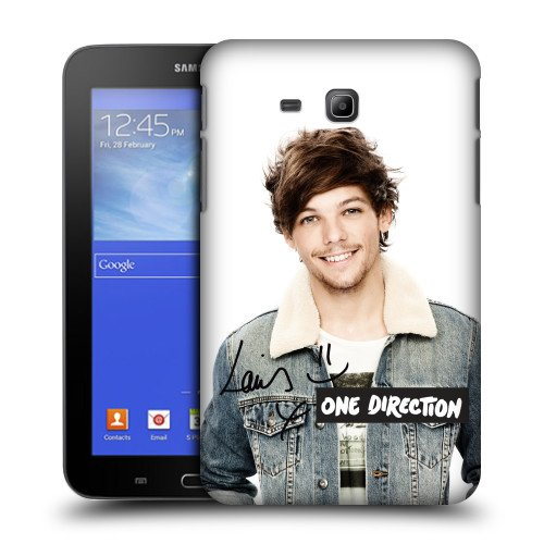 Official One Direction 1D Signature Smile Louis Tomlinson Photo Hard Back Case Cover for Samsung Galaxy Tab 3 Lite 7.0 T111 T110 (One Direction Samsung Tab 3 Case compare prices)