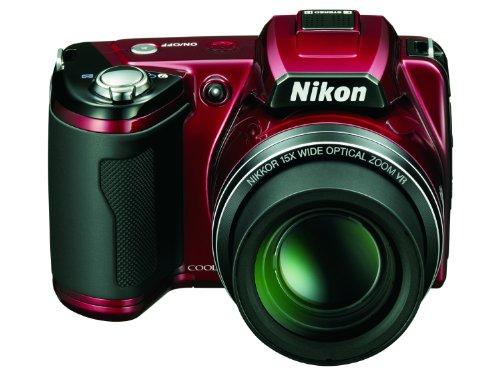 Nikon L110 Digital Camera - Red (12.1MP, 3 inch LCD, 15x Optical Zoom)