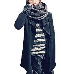[ゼンアン]ZENAN 全4色!! メンズ マフラー スヌード 秋冬 お兄系 ストール マフラー スヌード ボリューム 大判ストール 日本正規品 (チャコール)