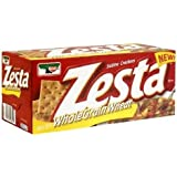 Zesta Saltine Crackers, Whole Grain Wheat, 16 oz (Pack 6)