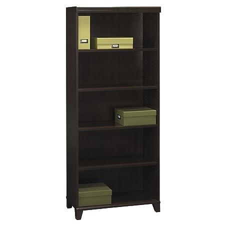 BUSH FURNITURE Tuxedo Collection 5 Shelf Bookcase