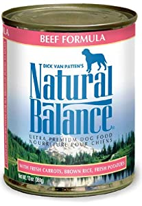 Natural Balance Canned Dog Food Case Beef