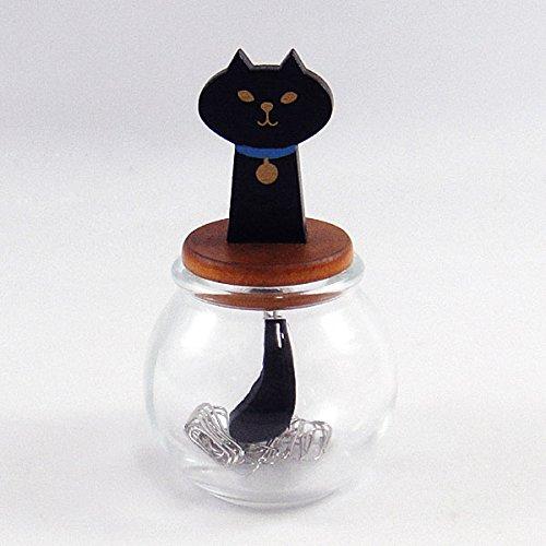 miranda 猫しっぽクリップボトル(黒猫)