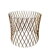 Master Garden Products Peeled Willow Circular Lattice Fence, 30 by 60-Inch, Light Mahogany Color at Sears.com