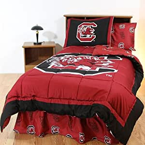 south carolina gamecocks 8 pc full size bed in a bag comforter set entire set. Black Bedroom Furniture Sets. Home Design Ideas