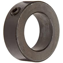 Shaft Collar, Set Screw Type, Black Oxide Finish, Steel, 1 1/2 Bore x 2 1/4 OD (Pack of 5)