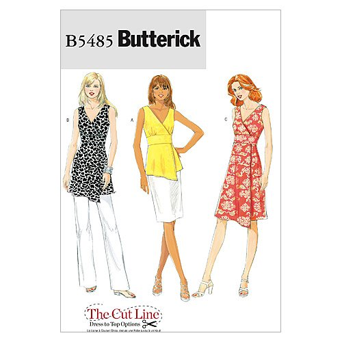 Butterick Patterns B5485 Misses' Top, Tunic and Dress, Size EE (14-16-18-20)