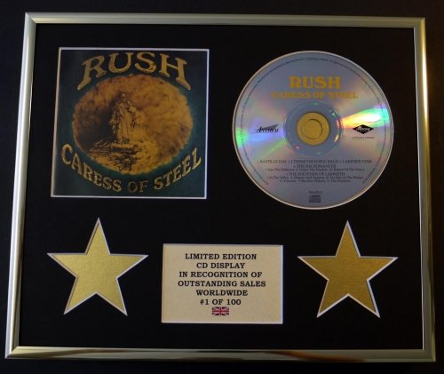rush-cd-display-limited-edition-coa-caress-of-steel