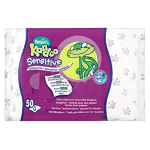 Pampers Kandoo Wipes Refill Sensitive 6 x 50 Wipes (300 Wipes)