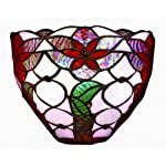 battery-operated stained-glass wall sconces