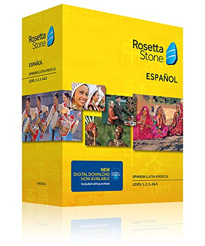 Rosetta Stone, Spanish (Latin America), Version 4, TOTALe, Level 1, 2, 3, 4 & 5 (Mac/PC)