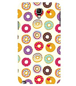 Printvisa Assorted Doughnut Pattern Back Case Cover for Samsung Galaxy Note 3 Neo N7505