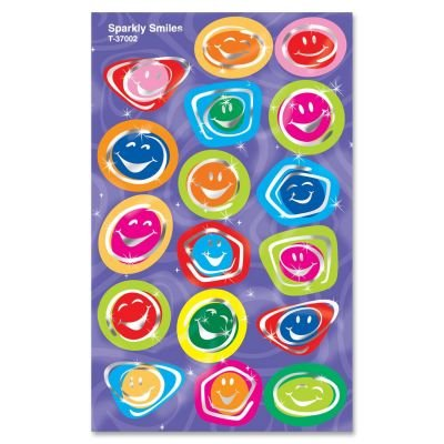 Trend Sparkly Sticker,34 Smilies - Foil - Assorted - 1