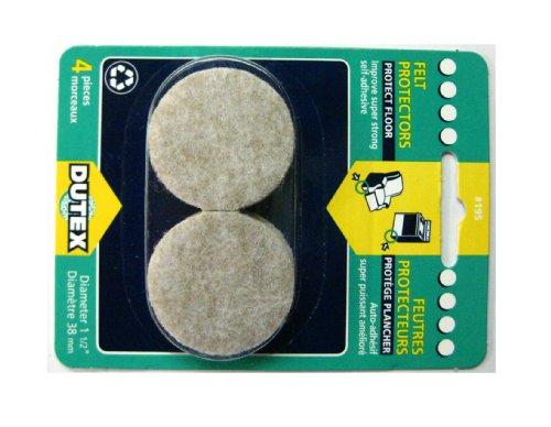 Self Adhesive Felt Protectors Diameter - 1 inch 1/2