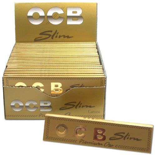 OCB premium KS Slim Papier à cigarette 50 x 32 mm