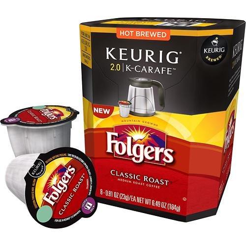 Keurig 2.0 Folgers Classic Roast K-Carafe Packs (8) front-618575