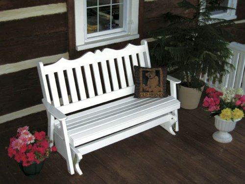 Outdoor 5 Foot Royal English Porch Glider - Painted- Amish Made Usa -Dark Green front-1076765
