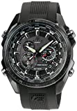 Casio Mens EQS500C-1A1 Black Stainless-Steel Quartz Watch with Black Dial