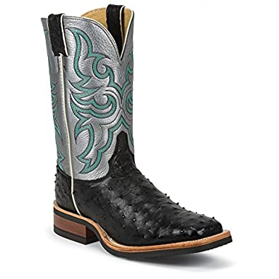 Amazon.com: Justin Men's Full Quill Ostrich Bronze Florention Cowboy