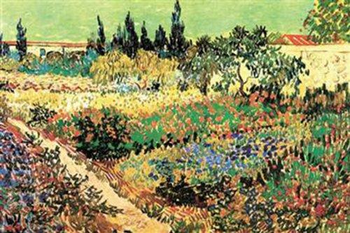 Walls 360 Peel & Stick Wall Decals: Flowering Garden by Vincent Van Gogh (12 in x 8 in)