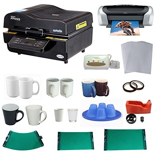 3d Sublimation Vacuum Machine Mug Printer Ciss Paper Business Bundle (3d Printer Press compare prices)