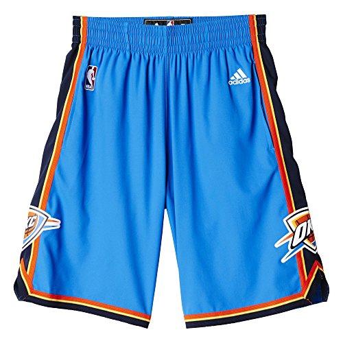 Adidas Intnl Swingman Shor Shorts da Basket, Blue/Orange/Black/Red, M