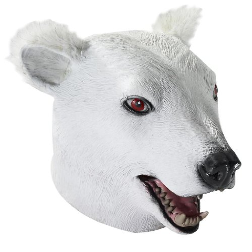 Adult Polar Bear Latex Costume Mask