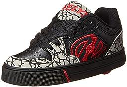 Heelys Motion Skate Shoe (Toddler/Little Kid/Big Kid), Black/Grey/Red, 3 M US Little Kid