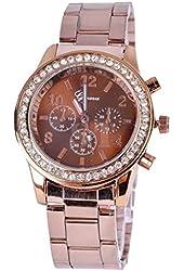 Soleasy Geneva Crystal Unisex Stainless Steel Quartz Wrist Watch WTH8293