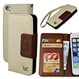 iPhone 5S case,iPhone 5 case,By HiLDA,Wallet Case,PU Leather Case,Credit Card Holder,Flip Cover Skin[Brown]
