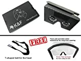 "Google Cardboard V2 Virtual Reality 3D Kit Compatible With 3.5""-6"" Smartphone Screens, Includes QR Code, Adjustable Headstrap, And Elegant Cardboard Design By K&F"