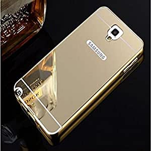 Go Crazzy Luxury Metal Bumper Acrylic Mirror Back Cover Case for SAMSUNG Galaxy NOTE 3 NEO N7505 -(Gold) With USB Led Light & OTG Cable