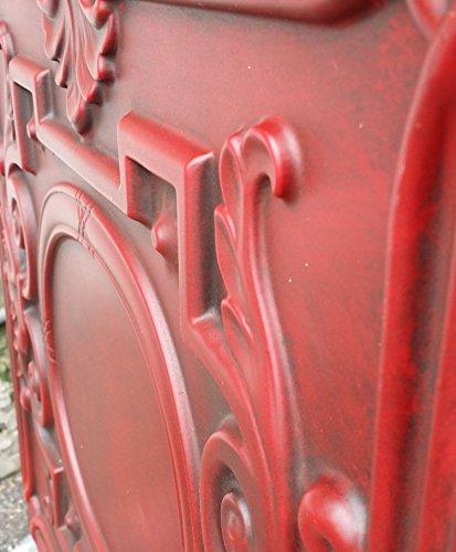 PL15en peint Old Antique plafond Carreaux Rouge Antique en relief Cafe Pub Shop Art Décoration murale panneaux 10pieces/Lot