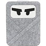 "IDACA Ninja Cartoon Design Felt Sleeve Carrying bag Case for Macbook Pro 13""/Macbook Air 13""/ Macbook Pro 13"" with Retina (Light Grey)"