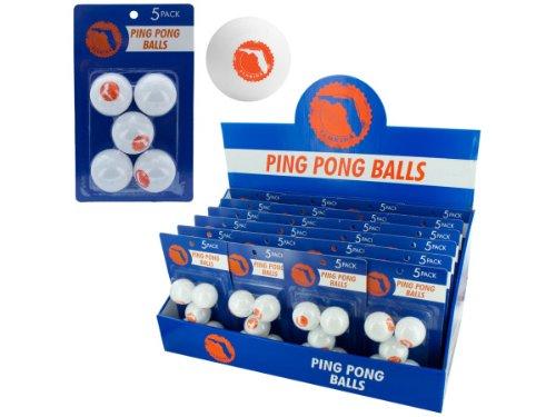 bulk buys Florida Ping Pong Balls (Countertop Display), White/Orange - 1