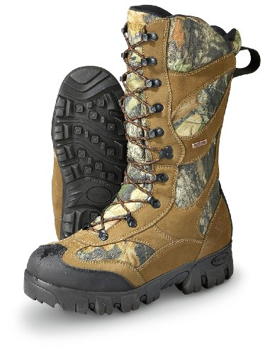 Men'S Guide Gear Waterproof 1400 Gram Thinsulate Ultra Giant Timber Ii Boots Mossy Oak, Mossy Oak, 10