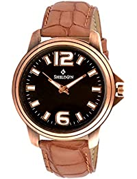 Sheldon Brown Leather Analog Watch For Men (SH-1048)