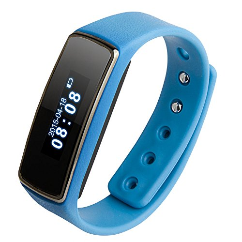 "Soyan V5 Fitness 0.91"" OLED Bluetooth Smartwatch Smart Bracelet Health Watch Wristband Wrist Wrap Sports Pedometer with Sports&Sleep Tracking For Android 4.3 or Above (Blue)"