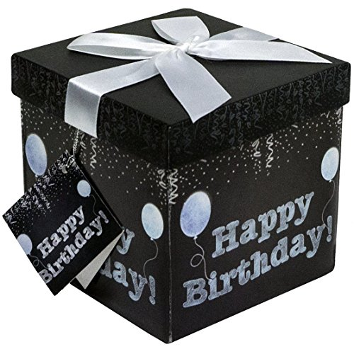 Endless Art US Amrita Birthday EZ Gift Box. Easy to Assemble and No Glue Required. (5x5)