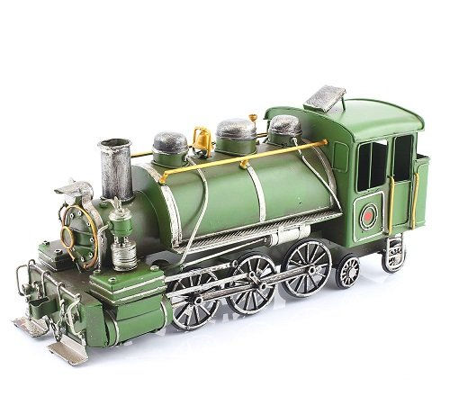 Lesser & Pavey 6-Piece Metal Train Collectible, Green