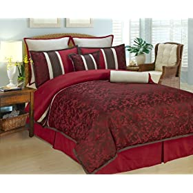 8 Piece King Autumn Blossom Bedding Comforter Set