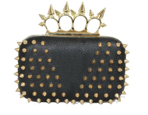 Missoni Spike Knuckle Duster Clutch Bag in Black